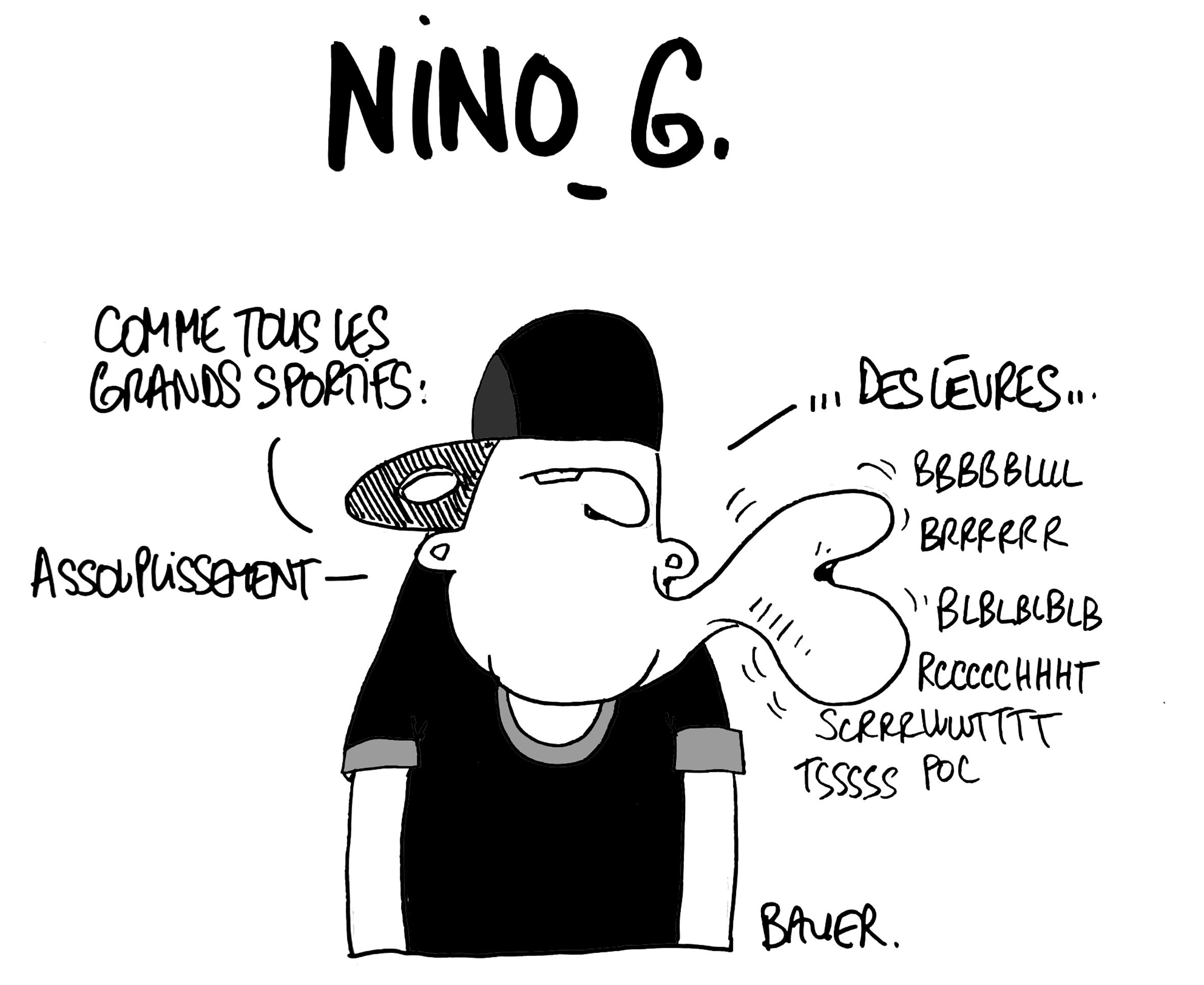 Nino G sportif de la bouche ©Bauer ©Absolument